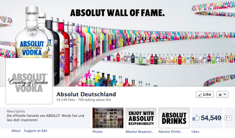 Absolut Facebook Page
