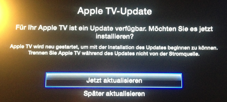 Apple TV iOS 5.2.1 Update