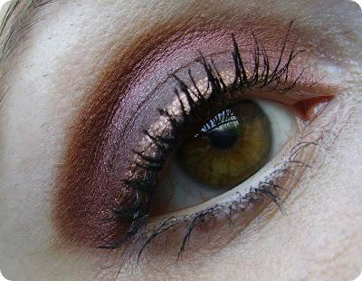 Augen Make-Up  Kupfer & Bordeaux