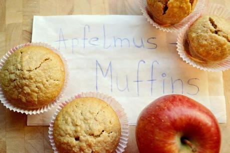 gebacken apfelmus muffins. Black Bedroom Furniture Sets. Home Design Ideas