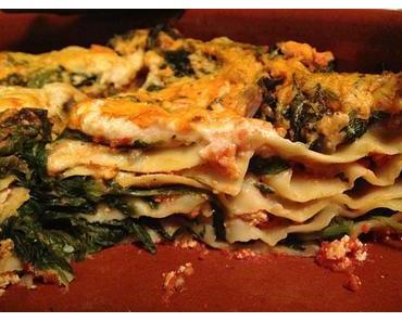 Rezept: vegane Spinat-Lasagne