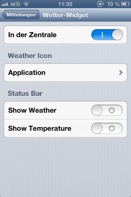 WeatherIcon Settings