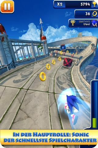 sonic dash iphone apps