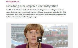 Angela Merkel am 19.04. live im Hangout bei Google+
