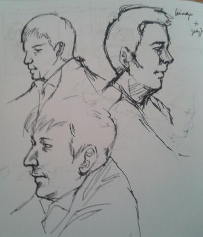 people sketching