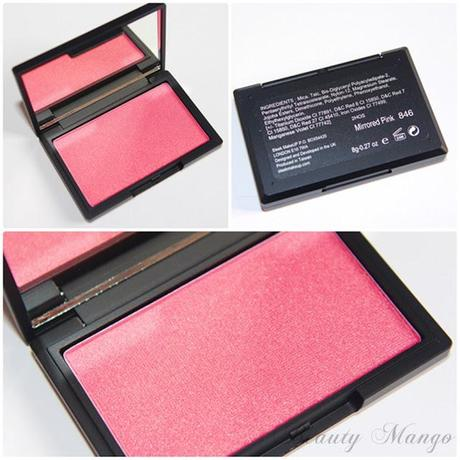 Sleek Blush Mirrored Pink