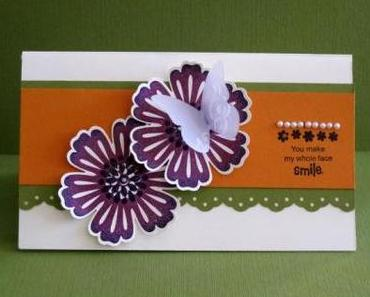 Pop Up Mixed Bunch Flower Card ………