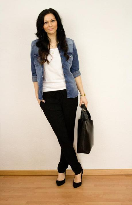 Outfit 1: Denim Shirt