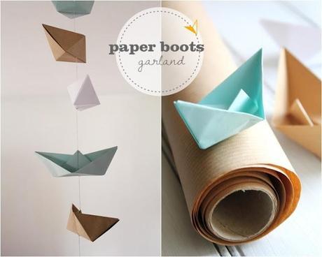 Mini DIY Paper Boat Garland