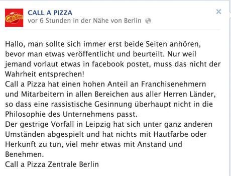 Call a Pizza Krisenmanagement