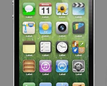 iOS 7 Konzept: Alternative Apps per Icon-Tap anzeigen