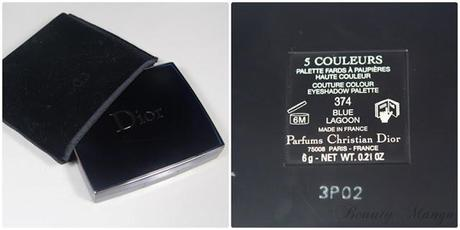 Dior Bird of Paradise 5 Couleurs Palette 'Blue Lagoon'