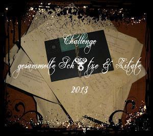 Challenge Gesammelte Schätze und Zitate im April