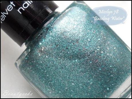 "Misslyn velvet diamond nail polish ""Dazzling Water"" - photo#19"