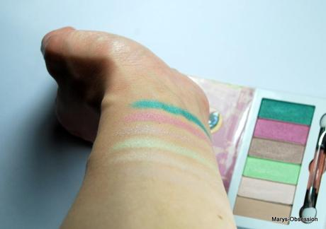 REVIEW (Swatches + Tragebilder) zur Eyeshadow Palette aus