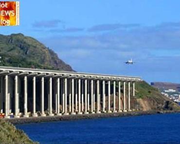 Trauminsel Madeira. Flugzeuge landen auf einer Brücke!