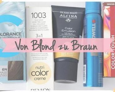 Von Blond zu Braun - eine gewagte Odyssee [& Tipps fürs Haare färben]
