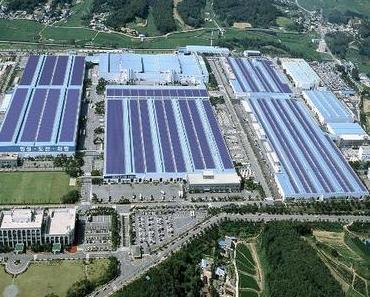 Hyundai wird die größte Aufdach-Photovoltaikanlage in Südkorea installieren