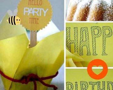 """Happy Birthday Party  """"Hello Party Time"""" und DIY Einladungskarten zum downloaden"""