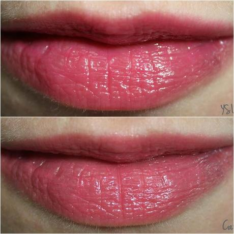 {Battle} YSL 'Volupté Sheer Candy' [Succulent Pomegranate] VS. Catrice Sheer Lip Colour [Wheels on Fire]