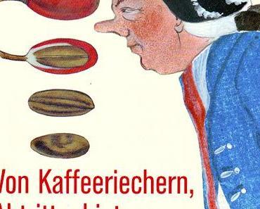 An Kaffeebohnen riechen