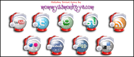 Icons Social Snow By Sultan Design-d30llxi2 in 10 weihnachtliche Social Media Icon Sets