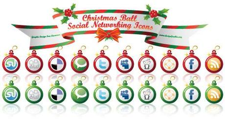 Vector-christmas-icons-all in 10 weihnachtliche Social Media Icon Sets