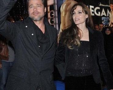 """Angelina Jolie und Brad Pitt auf der Filmpremiere von """"Megamind"""""""