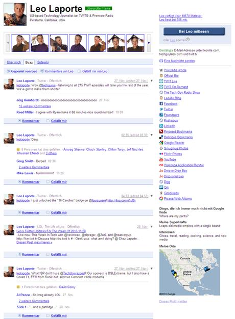 Google-Profil in Erstelle deine Online Visitenkarte