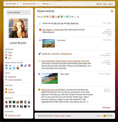 Chimp in Erstelle deine Online Visitenkarte