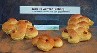 Schwedische Lussekatter in der Tradition