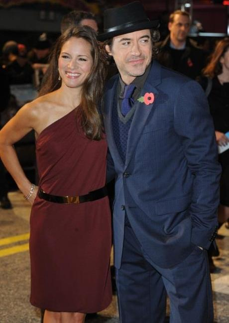 American actor Robert Downey Jr. and wife Susan Downey attend the premiere of Due Date at Empire, Leicester Square in London on November 3, 2010.   UPI/Rune Hellestad Photo via Newscom