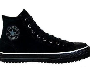 Converse All Star Winter Chucks gefüttert 1T287 Leder schwarz Suide Wildleder