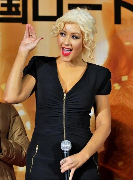 Singer and actress Christina Aguilera attends the Japan premiere for the film Burlesque in Tokyo, Japan, on December 7, 2010.   UPI/Keizzo Mori Photo via Newscom