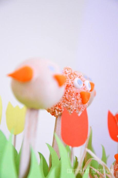 Easter Biddy Cake-Pops