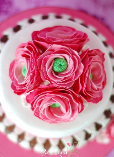 ranunkel torte und rosenwasser cupcakes. Black Bedroom Furniture Sets. Home Design Ideas