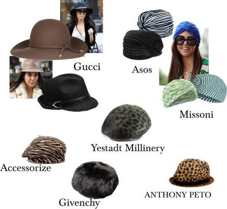 Kourtney Kardashian - hats