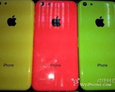 Plastik-iPhone: Leak der Rückseite in verschiedenen Farben + Rendering