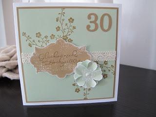 Karte zum 30. Hochzeitstag