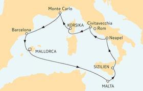 Tui-Cruises: Angebot der Woche - Oktober Mittelmeer Spezial