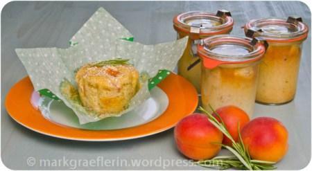 aprikosen rosmarin mini kuchen im glas oder muffin. Black Bedroom Furniture Sets. Home Design Ideas