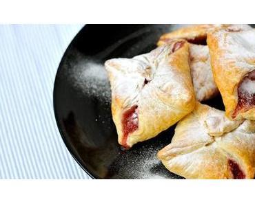 Blätterteigtaschen mit Marmelade glutenfrei, fructosefrei & histaminarm