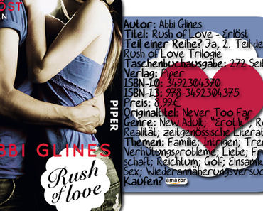 "|Rezension| ""Rush of Love: Erlöst"" von Abbi Glines"
