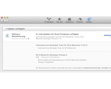 [Download] Mac OS X Mavericks DP4 Developer Preview 4