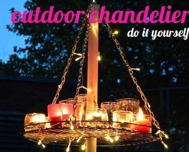 DIY // outdoor chandelier