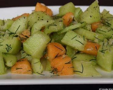 Durch einen netten Zufall entdeckt: Melonen-Gurken-Salat