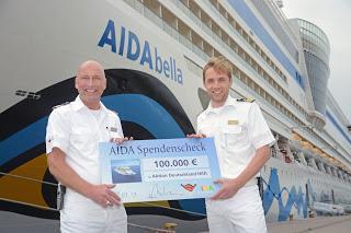 """AIDA unterstützt Opfer der Flutkatastrophe in Deutschland - Kreuzfahrtreederei spendet 100.000 Euro an """"Aktion Deutschland Hilft"""""""