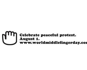 World Middle Finger Day – Welt-Mittelfingertag