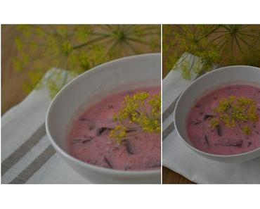 Rosa Buttermilchsuppe