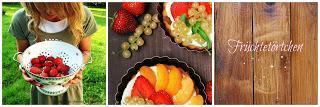 Sommergarten und leckere Früchtetörtchen